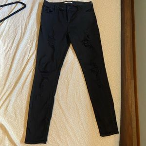 PacSun Black ripped perfect fit jeggings